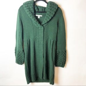 Old Navy Green Long Bubble Sleeve Cardigan
